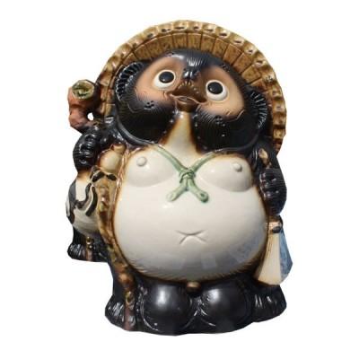 信楽焼 たぬき 福狸 10号 陶器 置物 タヌキ