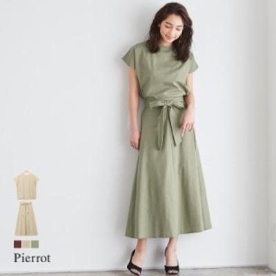綿麻 スカート セットアップ / レディース 夏新作 MD