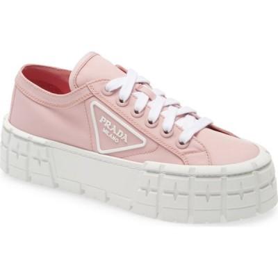 プラダ PRADA レディース スニーカー シューズ・靴 Logo Lug Platform Sneaker Pink