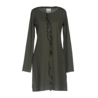 DOUUOD ミニワンピース&ドレス 鉛色 46 コットン 100% ミニワンピース&ドレス