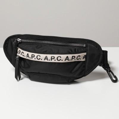 APC A.P.C. アーペーセー PAACL H62165 banane repeat mini ナイロン ボディバッグ ベルトバッグ ウエストポーチ 鞄 NOIR メンズ レディース