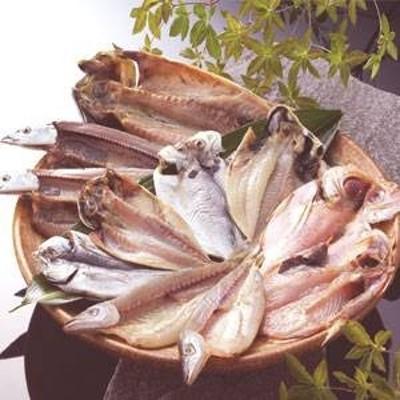 沼津「奧和」のひもの詰合せ6種(11枚)あじ、さんま、かます、金目鯛、えぼ鯛、さば 〔送料無料〕