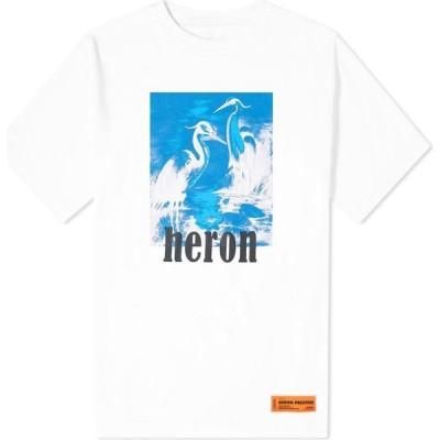 ヘロン プレストン Heron Preston メンズ Tシャツ トップス Herons Oversized Tee White/Blue