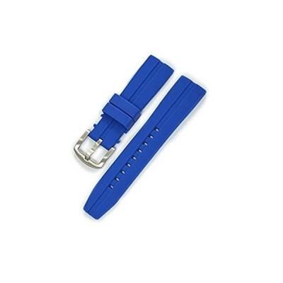 【新品・送料無料】CASSIS[カシス] ラバー 時計ベルト 完全防水 CREMONA クレモナ 22mm ダークブルー 交換用工具付き ULS00376062022M