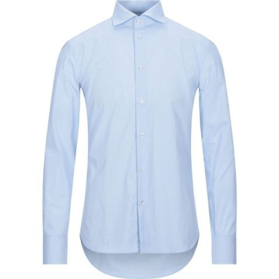 エレディ デル ドゥーカ EREDI DEL DUCA メンズ シャツ トップス patterned shirt Sky blue