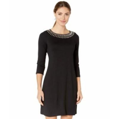 トッミーバハマ レディース ワンピース トップス Drapey Ponte 3/4 Sleeve Dress Black