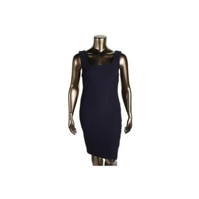 バースリー ドレス ワンピース Bar III 4072 レディース ネイビー Textuレッド ノースリーブ Wear to Work ドレス XL BHFO