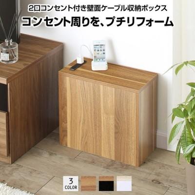 収納ボックス 収納ケース 壁面 収納 ボックス 送料無料 小物 小さめ 薄型 隙間 コンセント コンセント付 スリム コンパクト 配線 整理 plugg プラッグ