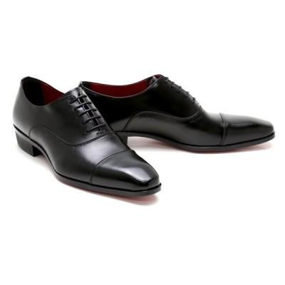 ビジネスシューズ 本革 ストレートチップ キャップトゥ メンズ 革靴 本革 ビジネスシューズ クインクラシコ ドレスシューズ qc2300bk ブラック(黒) キャップトゥ