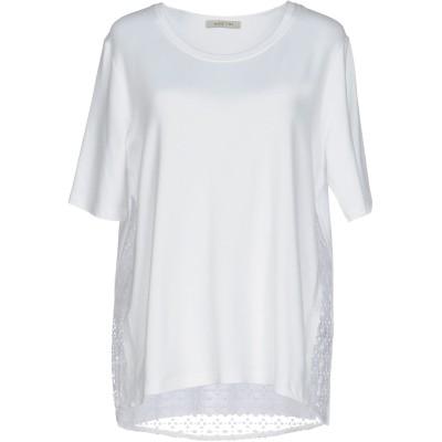 MARGITTES T シャツ ホワイト 38 レーヨン 45% / レーヨン 45% / ポリウレタン 10% / ポリエステル T シャツ