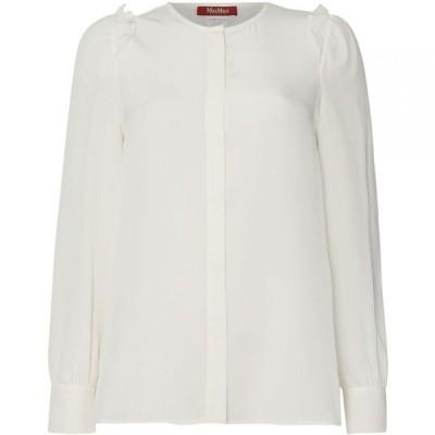 マックスマーラ Max Mara Studio レディース ブラウス・シャツ トップス Bingo round neck blouse White