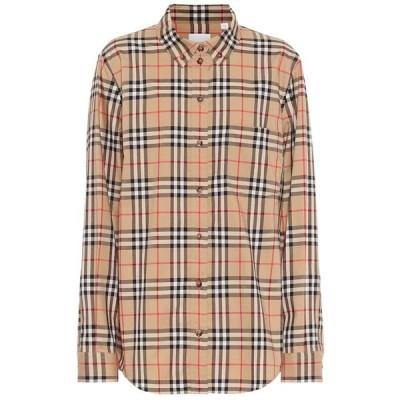 バーバリー Burberry レディース ブラウス・シャツ トップス vintage check stretch-cotton shirt Archive Beige IP Check