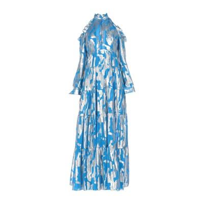 LEITMOTIV ロングワンピース&ドレス アジュールブルー 42 シルク 66% / ポリエステル 34% ロングワンピース&ドレス