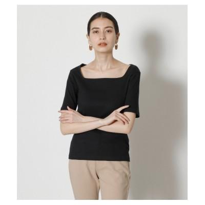 tシャツ Tシャツ SQUARE NECK RIB TOPS/スクエアネックリブトップス