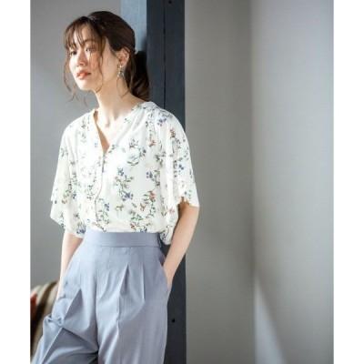tシャツ Tシャツ サラサラリラックスプリントブラウス半袖/866301
