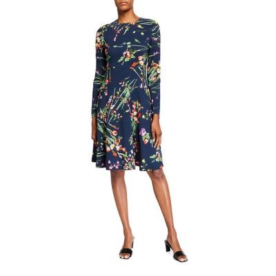 リラローズ レディース ワンピース トップス Tiered Long-Sleeve Dress