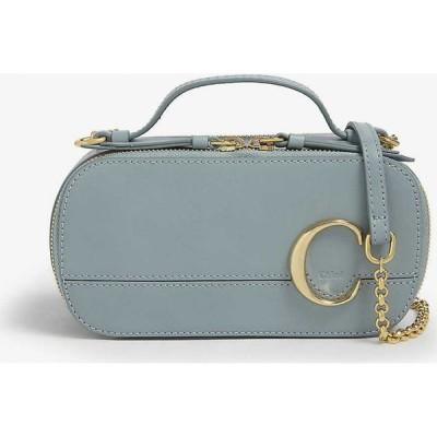 クロエ CHLOE レディース ショルダーバッグ バッグ Chloe C mini leather shoulder bag FADED BLUE