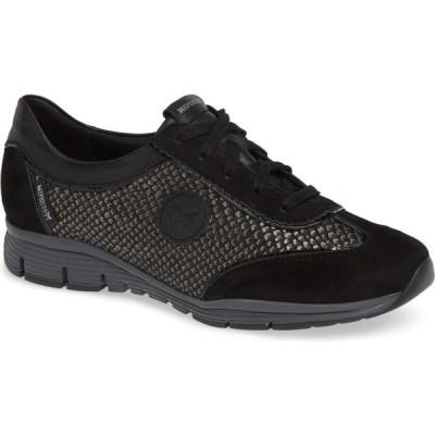 メフィスト MEPHISTO レディース スニーカー シューズ・靴 'Yael' Soft-Air Sneaker Black Suede