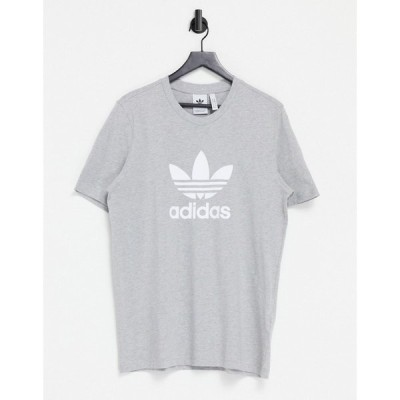 アディダス adidas Originals メンズ Tシャツ トップス Adicolor T-Shirt In Grey Heather With Large Logo グレー