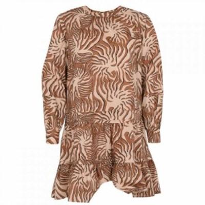 スコッチandソーダ Scotch and Soda レディース ワンピース Aライン ワンピース・ドレス Tiered Dress Brown