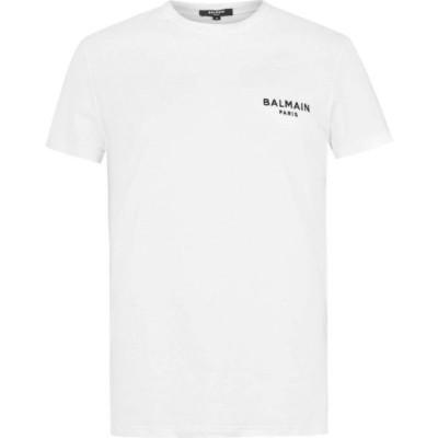 バルマン BALMAIN メンズ Tシャツ ロゴTシャツ トップス Chest Logo T Shirt White