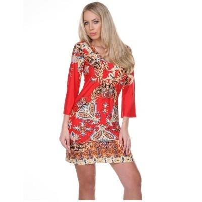 ホワイトマーク ワンピース トップス レディース Women's Madelyn Dress Red