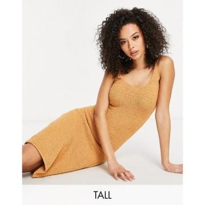 ミスガイデッド Missguided Tall レディース ワンピース ワンピース・ドレス Co-Ord Midaxi Dress In Toffee ブラウン