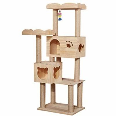 猫クライミングフレーム 環境保護ツリーホールキャットハウスペット用品付 (新古未使用品)