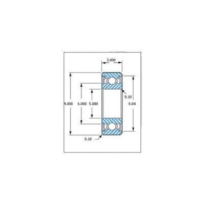 ミネベア ボール・ベアリング DDL-950ZZ ステンレス 5x9x3mm