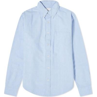 アドサム Adsum メンズ シャツ ワイシャツ トップス Button Down OG Premium Oxford Shirt Oxford Blue