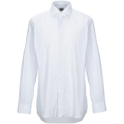 XACUS シャツ ホワイト 38 コットン 97% / ポリウレタン 3% シャツ