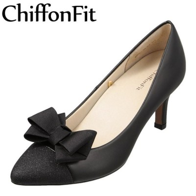 シフォンフィット ChiffonFit CF-1003 レディース | パンプス | 小さいサイズ対応 大きいサイズ対応 | ブラック