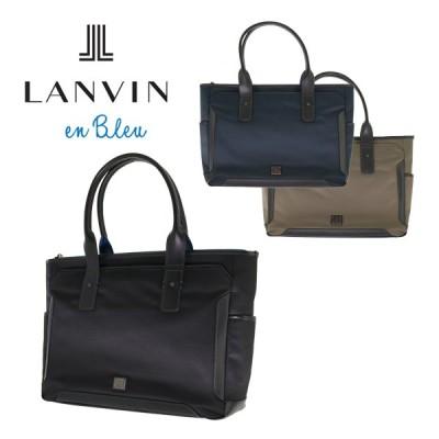 ランバンオンブルー トートバッグ サイド 571512 LANVIN en Bleu ビジネスバッグ キャリーセットアップ ポリエステル メンズ