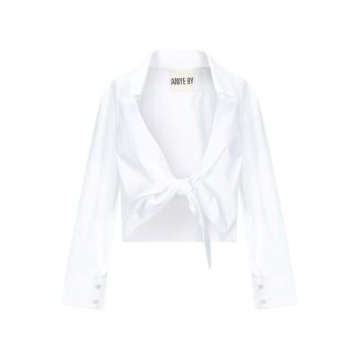 アニヤバイ ANIYE BY シャツ ホワイト S コットン 61% / ナイロン 36% / ポリウレタン 3% シャツ