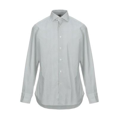 CALIBAN 820 シャツ グリーン 40 コットン 97% / ポリウレタン 3% シャツ