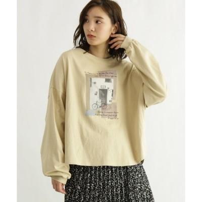 tシャツ Tシャツ [洗える]転写プリント長袖Tシャツ