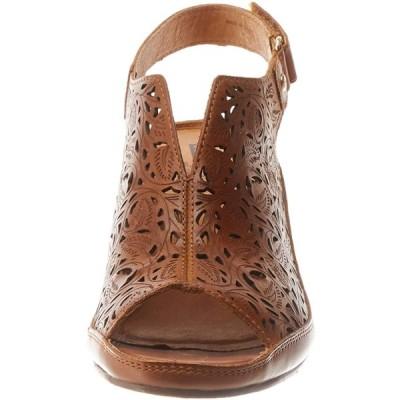 PIKOLINOS Women's Open Toe Sandals, Brandy, 4 UK