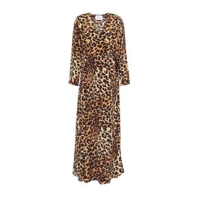 WE ARE LEONE シルクドレス  レディースファッション  ドレス、ブライダル  パーティドレス キャメル