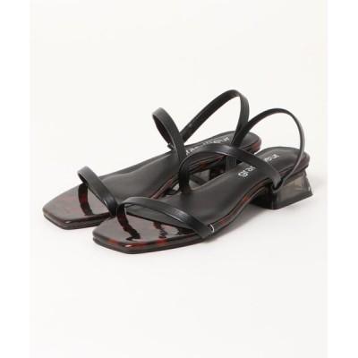 Parade ワシントン靴店 / 【スクエアトゥ】ソフトストラップ クリアヒールサンダル DAS4904 WOMEN シューズ > サンダル