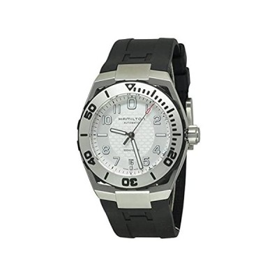Hamilton H78615355 Men's Khaki Navy Automatic Black Rubber Silver-Tone Dial