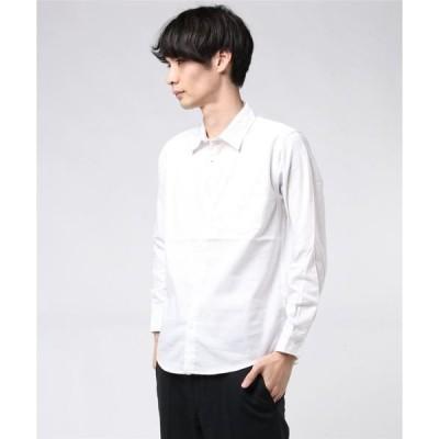シャツ ブラウス :マルチソリッドネルシャツ LS2