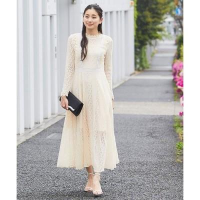 ドレス 総レースロングワンピースドレス