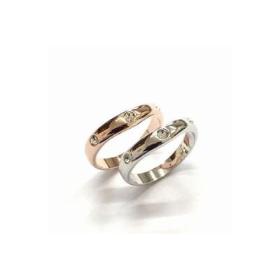 リング 3石クリスタル指輪 /日本製/2色展開/スワロ使用/BR-4631