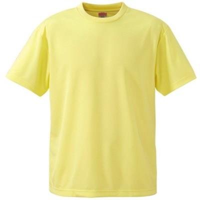 Tシャツ メンズ レディース 半袖 無地 黄色 イエロー s m l xl 2l xxl 3l xxxl 4l xxxxl 5l 大きいサイズ 丈夫 シャツ ユニセックス ポリエステル 吸水速乾 吸汗