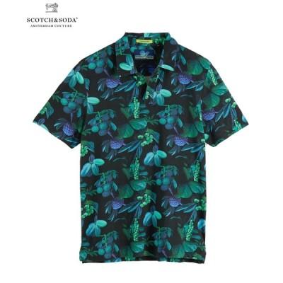 SCOTCH&SODA スコッチ&ソーダ ポロシャツ Printed Mercerized Polo ブラック 292-14513 メンズ トップス 半袖 カジュアル 送料無料