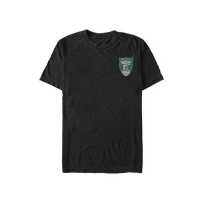 フィフスサン メンズ Tシャツ トップス Harry Potter Slytherin Shield Pocket Graphic T-Shirt