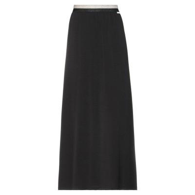 カフェノワール CAFèNOIR ロングスカート ブラック 38 ポリエステル 92% / ポリウレタン 8% ロングスカート