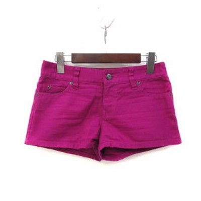【中古】ジルスチュアート JILL STUART ショート パンツ 0 XS ピンク カラー デニム 美品 レディース