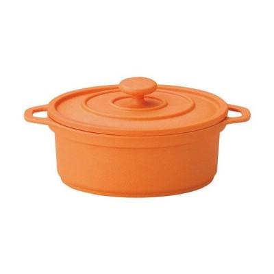 MIN ミニココ オーバル(小)オレンジ(樹脂製)(M11-291)キッチン、台所用品