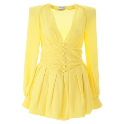 ATTICO/アティコ Yellow The attico crepe mini dress レディース 春夏2020 201WCA10V008 ik